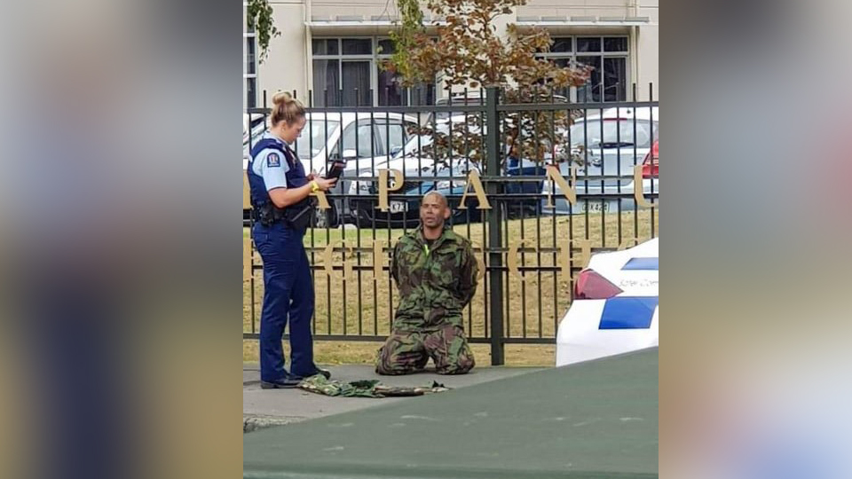 Shooting In Christchurch Picture: Four People In Custody In Mosque Shooting In Christchurch