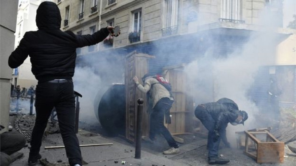 Paris May Day Protests: Police And Demonstrators Clash