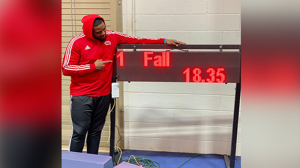 Mustafa Fall Sets New National Shot-put Record