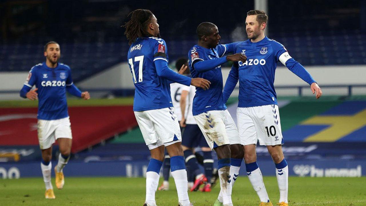 Image result for Everton reach FA Cup quarter-finals